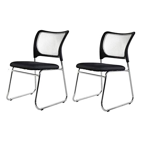 PIVFEDQX Set of 2 Mesh Fabric Seat Upholstered with Armrests Ergonomic Support Office Reception Chairs Color Green
