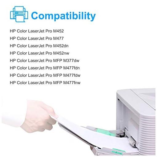 Sizzler Compatible 410X Cartuchos de tóner Reemplazo para HP 410X 410A Toner Cartuchos para HP Color LaserJet Pro M477… 2