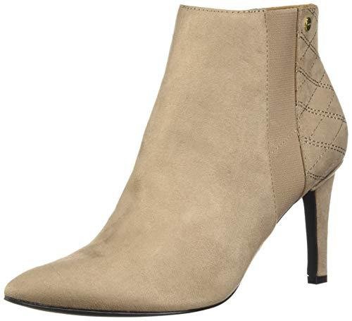 Calvin Klein Women's Bestie Ankle Boot, Tobacco Microsuede, 9.5 M US