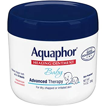 Aquaphor Baby Healing Ointment - Advance Therapy for Diaper Rash Chapped Cheeks and Minor Scrapes - 14 Oz Jar