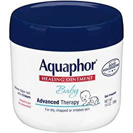 Aquaphor Baby Healing Ointment – Advance Therapy for Diaper Rash, Chapped Cheeks and Minor Scrapes – 14. Oz Jar