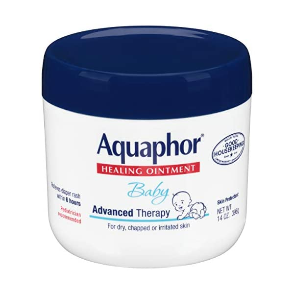 Aquaphor Baby Healing Ointment – Advance Therapy for Diaper Rash, Chapped Cheeks...