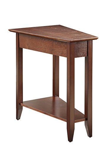 Convenience Concepts American Heritage Wedge End Table, Espresso
