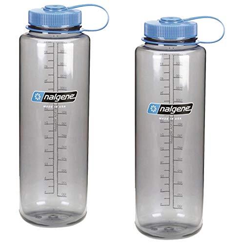 Nalgene Silo 48oz Tritan Wide Mouth Bottle - 2 Pack (Grey)