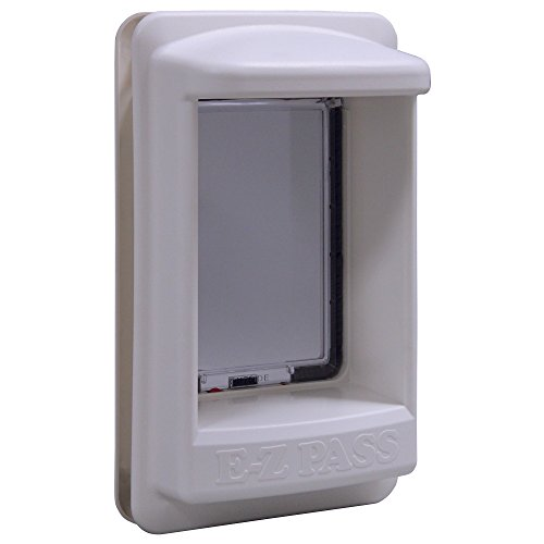 'Ideal Pet Products E-Z Pass Electronic Pet Door, Medium, 7'' x 9'' Flap Size', white