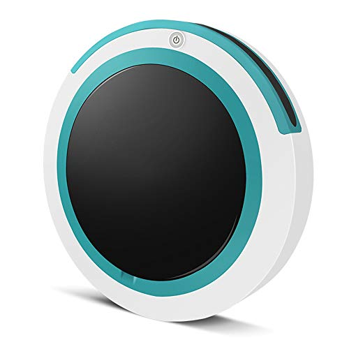 JQRXRQ Robot Aspirador Un botón para iniciar la inducción Evitación de obstáculos Aspiración Potente Polvo de Cabello Robot de Barrido doméstico,Blanco