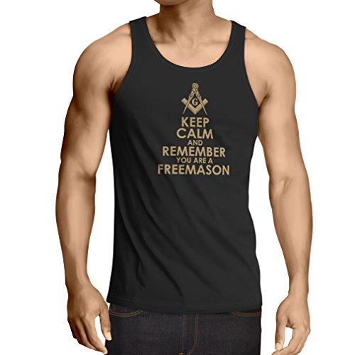 lepni.me Camiseta de tirantes para hombre con el logotipo 'Remember You are a Freemason'