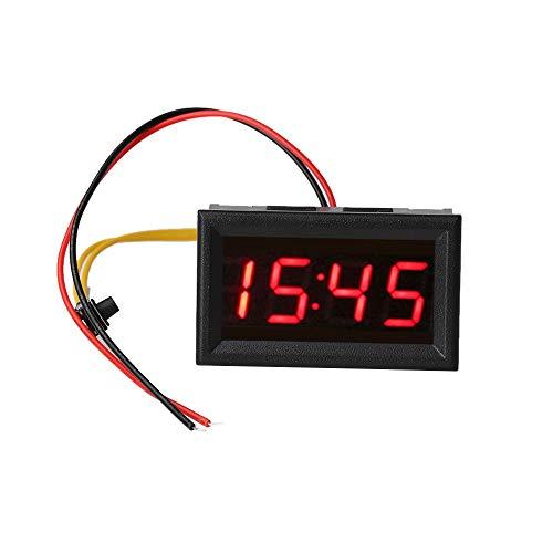 NUJA 1pc Universal LED Automoción Reloj electrónico Relojes de Coches Tiempo LED de visualización del Reloj Digital DIY Modificado Motocicleta del Tablero de Instrumentos del Reloj