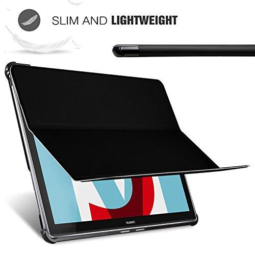 Huawei MediaPad M5 10.8 Zoll Hülle, IVSO Ultra Schlank Ständer Slim zubehör Schutzhülle perfekt geeignet für Huawei MediaPad M5 10.8 Pro /M5 10.8 2018 Modell Tablet PC (SZ-Schwarz) - 6