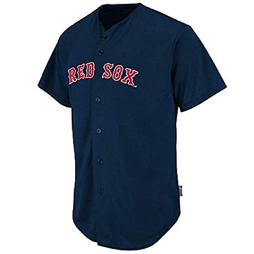 Majestic Athletic Boston Red Sox Full Button Blank Back Adult 2XL
