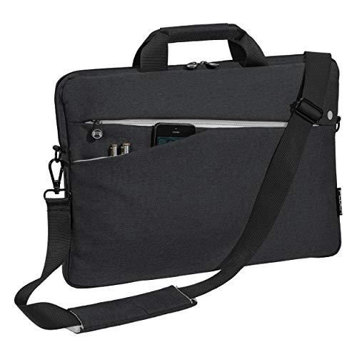 Pedea Laptoptasche Fashion Notebook-Tasche bis 17,3 Zoll (43,9 cm) Umhängetasche mit Schultergurt, Schwarz