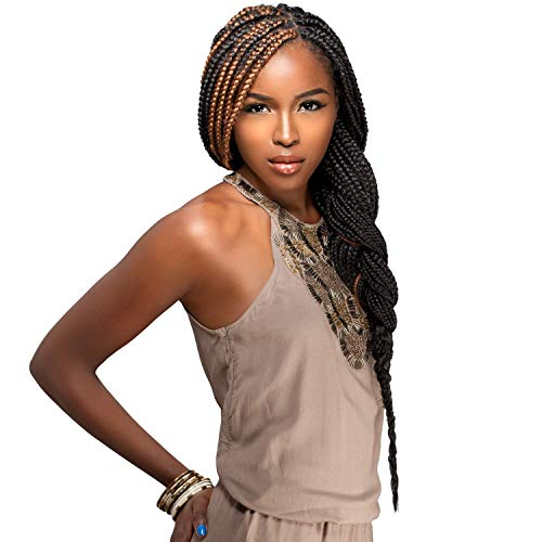 "MULTI PACK DEALS! Sensationnel Synthetic Hair Braids XPRESSION 2X Pre-Stretched Braid 48"" (5-PACK, 1B)"