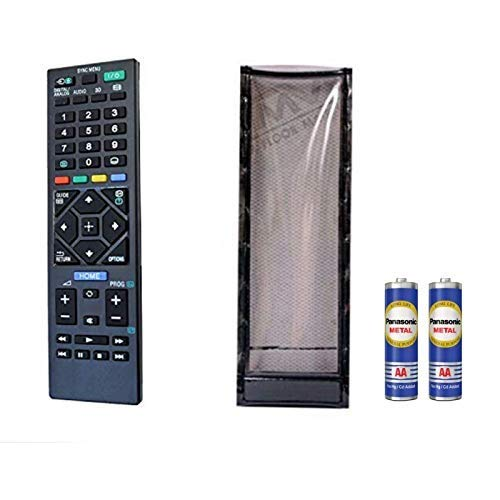 JPBROTHERS 4U, (Combo Offer), LED/LCD TV Remote Control with Protective Cover, Compatible for Sony LED/LCD TV Remote Control (Remote + Cover + AAA Power Cell)