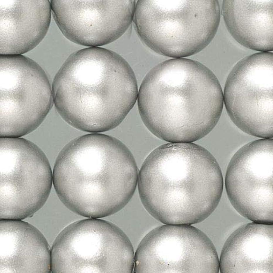 Efco Wax Beads ? 6 mm 60 pcs. Silver matt, 5x5x2 cm