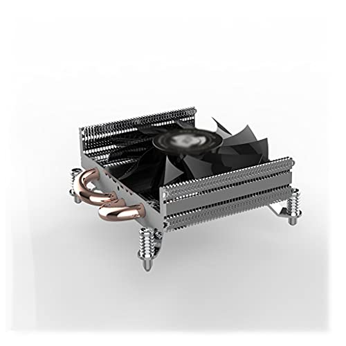 AWYST PC Cooler Bajo Perfil CPU Cooler 28mm Altura Aluminio Aletas 78mm PWM Ventilador CPU Aire Cooler con 4 Heatpipes HTPC Radiador Disipador
