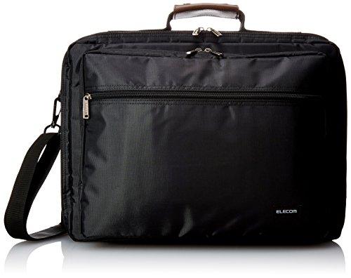 エレコム ビジネスバッグ キャリングバッグ A4対応 16.4インチワイド ブラック BM-SDLTBK