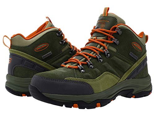 Skechers womens Hiker,Olive,8 M US