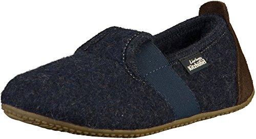 Living Kitzbühel T-Modell Uni 1446 - Zapatillas de casa para niños, Color Azul, Talla 37