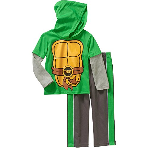 Teenage Mutant Ninja Turtles Costume Boy Long Sleeve Hoody Shirt Pants Set 5T