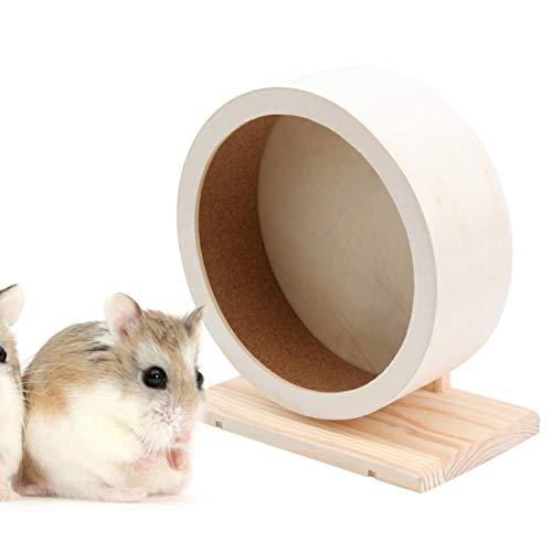 TEHAUX Übungsrad für Kleine Haustiere Hamster Holz Bunte Stille Spinner Nagetiere Mäuse Ratten Igel Laufrad
