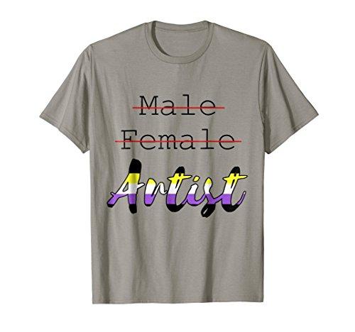 Nonbinary Novelty Artist Tee Shirt LGBTQ Pride T-Shirt