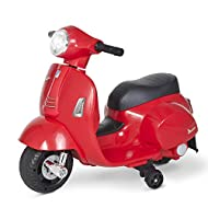 HOMCOM Compatible Kids Ride On Motorcycle Vespa Licensed 6V Battery Powered Electric Trike Toys for ...