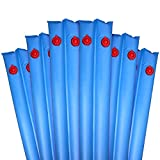 Robelle 3809-06 Deluxe 16g. Double-Chamber 8-Foot Blue Winter Water Tube For Swimming Pool Covers, 6-Pack