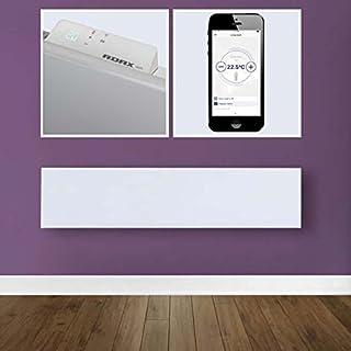 ADAX Neo Smart Wifi - Radiador de panel eléctrico de perfil bajo con temporizador, control de smartphone, a prueba de salpicaduras, económico, moderno, Blanco, 800 W