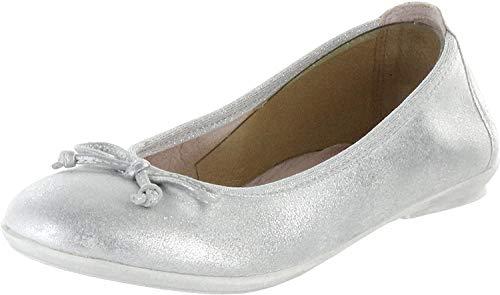 Richter Kinder Ballerinas Silber Metallicleder Mädchen Schuhe 3510-341-0200 Yvonne, Farbe:Silber, Größe:38