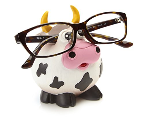 By Bers Brillenhalter Design Bulle, Kuh, Büffel, Rindvieh, handbemalt, lustig, für Kinder und Junggebliebene