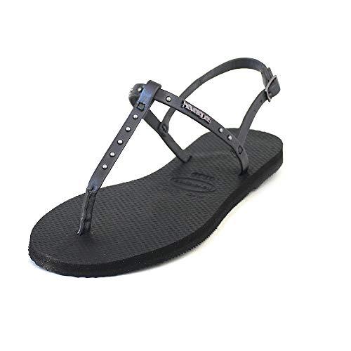 Havaianas You Riviera Maxi Sandals Women Black - 9/9.5 - Sandals Shoes
