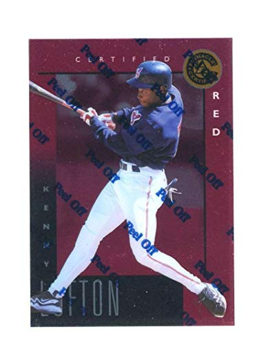 1998 Pinnacle Certified Red #36 Kenny Lofton Bankruptcy Test Issue Rookie - Unsigned Baseball Cards