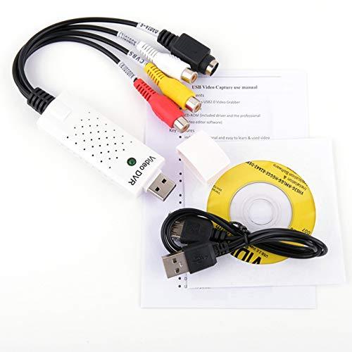 fengzong USB 2.0 Video Capture Grabber Kartenadapter Chipsatz Utv007 TV DVD VHS Audioaufnahme S-Video USB Converter Adapter Für Win7 (weiß)