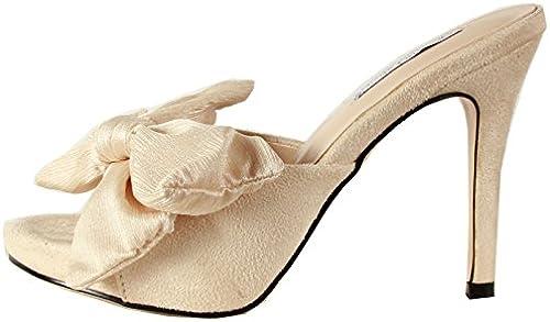 GTVERNH Talon Pantoufles Summer Arc des Chaussures étanches Pantoufles Tableaux Joker Fine Bouche