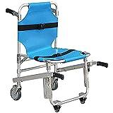 H&1 Silla de Ruedas eléctrica Silla de Ambulancia Plegable Ligera de Aluminio 3 Hebillas de liberación Ajustables Elevadores de sillas de Emergencia 4 Ruedas Silla d