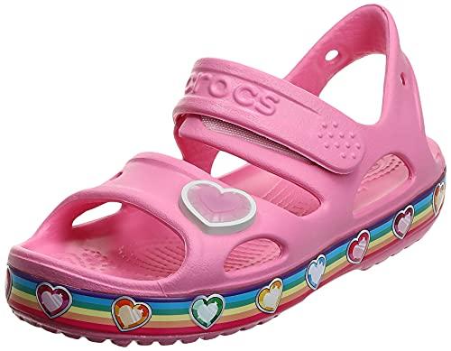 Crocs Fun Lab Rainbow Sandal, Sandalia Unisex Niños, Pink Lemonade, 24/25 EU