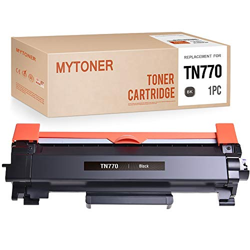MYTONER Compatible Toner Cartridge Replacement for Brother TN770 TN-770 TN760 Super High Yield Toner for HL-L2370DW MFC-L2750DW (Black, 1-Pack)