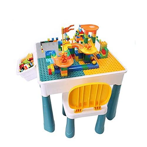 ZSM Tabla de Actividades para niños pequeños, Juego de sillas de Mesa para niños, Multi Actividad Playset y Mesa de Arena de Mesa de Agua YMIK