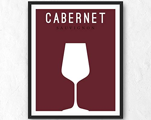 Wine Digital Print. Wine Printable. Red Wine Poster. Cabernet Print. Cabernet Sauvignon Printable. Minimalist Print. Digital Art. JPG, PNG | Poster No Frame Board For Office Decor, Best Gift For Famil