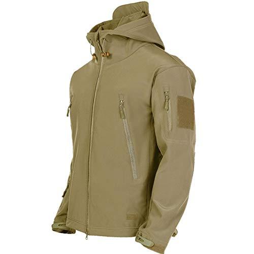 Militar Soft Shell Chaquetas Hombres Táctico a prueba de viento chaqueta impermeable hombres ejército Chaquetas de combate para hombre con capucha Bomber Abrigos