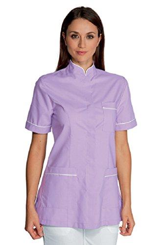 Isacco Panarea blouse, wit/fuchsia, maat S, materiaal: 65% polyester en 35% katoen