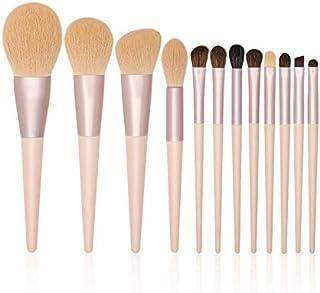 Make-upborstels, schoonheidstools 12 make-upborstelsets Professionele foundation Blush Oogschaduw en wenkbrauwborstels Ges...