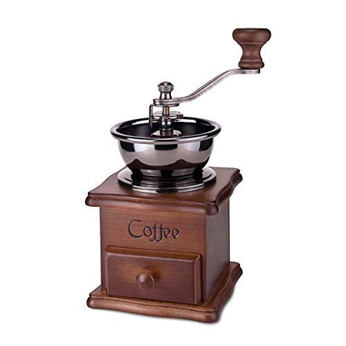 TMY Hogar Maquina De Cafe Molinillo de café Hecho a Mano de Madera Molino de café Retro Molino de máquina de café Retro de Acero Inoxidable Molinillo de Pimienta (tamaño : 18 * 10cm)