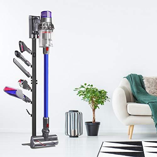 InLoveArts Ständer für Dyson Akkusauger V11 V10 V8 V7 V6 ,Ständer Kabelloser Staubsauger Ständer,stabile Metallhalterung Organizer, schwarz,Nein Bohren der Wand