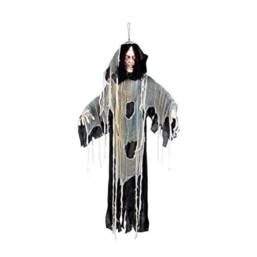 Boland- Decorazione Staring Zombie con Luci, Nero/Bianco, 150 cm, 73010