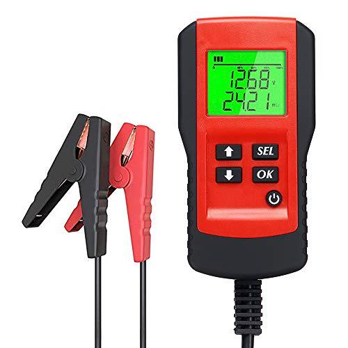 KKmoon Probador de la Batería del Coche Digital 12V, Prueba de Carga y Analizador de Porcentaje de Vida útil de la Batería, Voltaje, Resistencia y batería de ciclo profundo