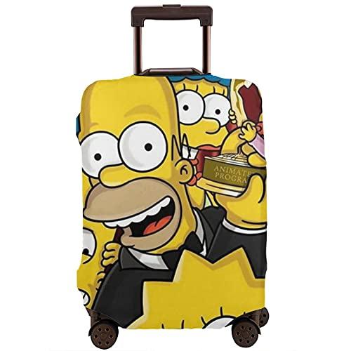 Anime Cartoon Simpsons Maleta Protector Funda Lavable Diseño 3D Impresión 4 Tamaños para la mayoría de Equipaje Bolsa Protectora Cremallera
