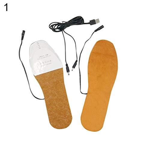 YSHTAN Heizung Einlegesohlen Andere Outdoor Ausrüstung Einlegesohle USB Heizung Elektrisch Beheizt Herren Damen Schuheinlagen Heizung Winter Füße Wärmer Pad - Frauen Rot 41-36 - 3