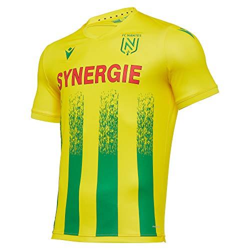 Macron Nantes M20 Matchday Auth Home Shirt SS SR, Trikot FC 2020/21 Herren, Gelb, XXL