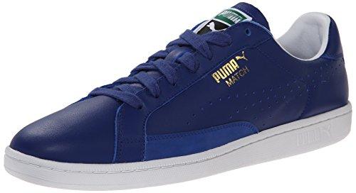 PUMA Men's Match 74 Lace-Up Fashion Sneaker, Mazarine Blue/White, 12 M US